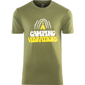 POLER Camping Vibrations T-Shirt Homme, olive